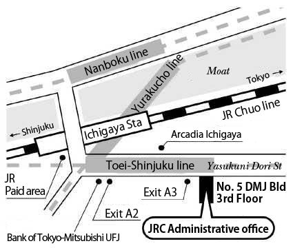 Map of JRC Administrative office